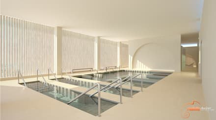 Piscine a laghetto in stile  di Realistic-design