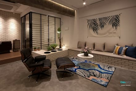 거실인테리어 - 전주인테리어 상가주택 인테리어 30평 인테리어 - 위크앤드 -: 디자인투플라이의  거실