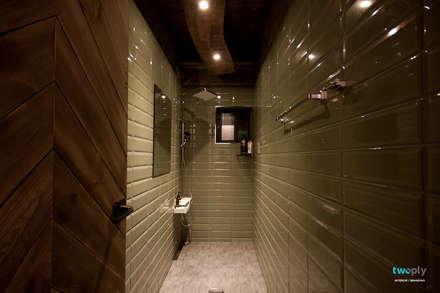 화장실인테리어 - 전주인테리어 상가주택 인테리어 30평 인테리어 - 위크앤드 -: 디자인투플라이의  화장실