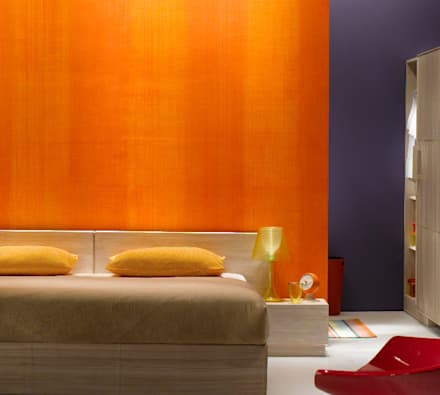 : rustic Bedroom by Papersky Studio