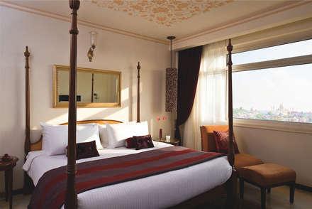 : tropical Bedroom by Papersky Studio