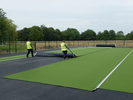 Tennis Court: asian Garden by Sovereign Sports