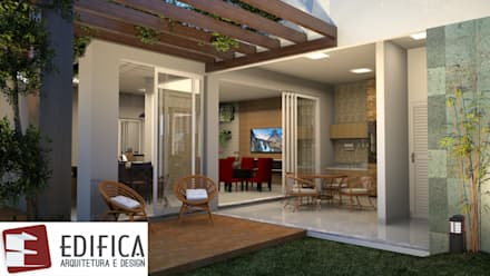 Jardines frontales de estilo  por Edifica Arquitetura e Design