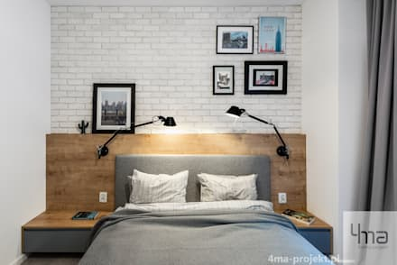 Projekt mieszkania o pow. 60 m2.: styl , w kategorii Sypialnia zaprojektowany przez 4ma projekt