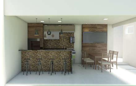 rustic Garage/shed by Kamila Andrade - Arquiteta e Urbanista