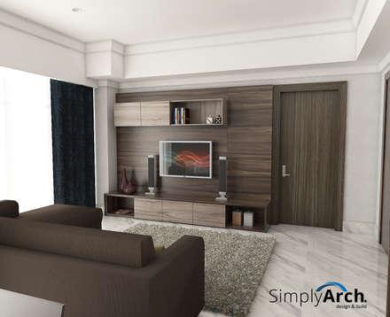 TV Credenza:  Ruang Keluarga by Simply Arch.