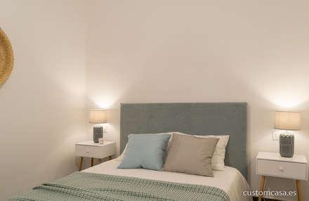 Singular vivienda de estilo nórdico en Valencia : Dormitorios de estilo escandinavo de custom casa home staging