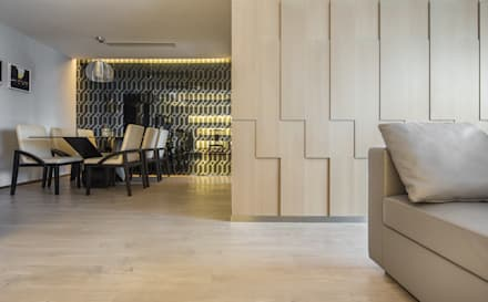 : asian Dining room by Another Design London Limited