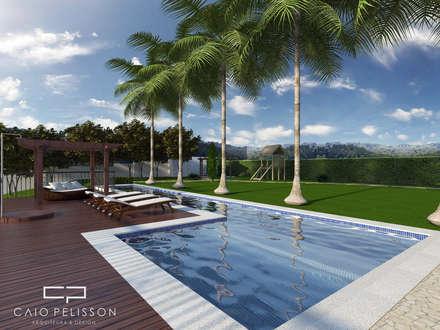 moderner Pool von Caio Pelisson - Arquitetura e Design