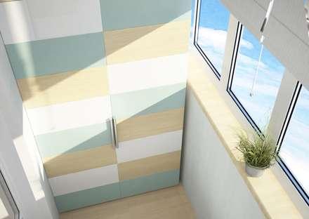 Балкон: Tерраса в . Автор – Гузалия Шамсутдинова | KUB STUDIO