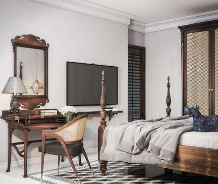 koloniale Schlafzimmer von V Design Studio