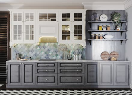 colonial Kitchen by V Design Studio