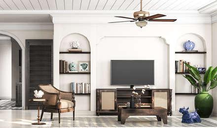 Livings de estilo colonial por V Design Studio