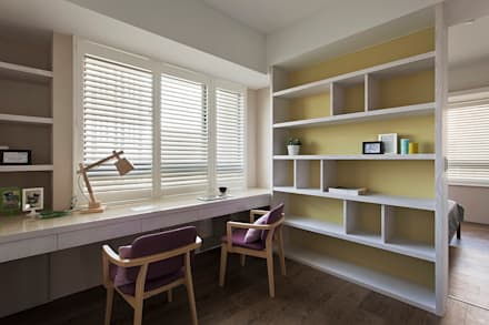 Estudios y biblioteca de estilo  por 禾光室內裝修設計 ─ Her Guang Design