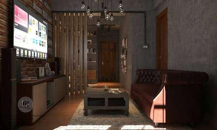ห้องดูทีวี:  ห้องสันทนาการ by sixty interior design & renovation