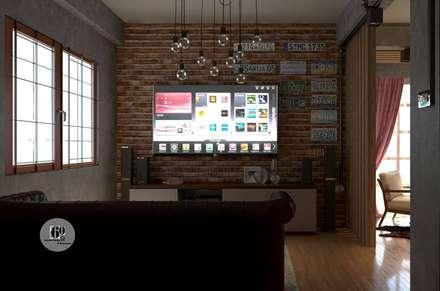 غرفة الميديا تنفيذ sixty interior design & renovation