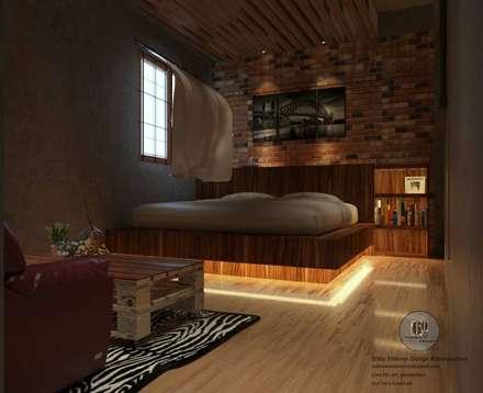 ห้องนอน:  ห้องนอน by sixty interior design & renovation
