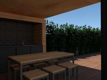 Churrasqueira : Jardins modernos por Edgart