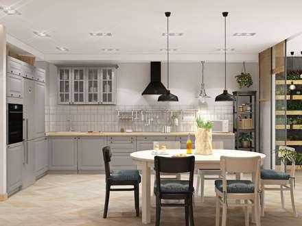 3к.кв. в ЖК Ямайка 2 (120 кв.м): Кухни в . Автор – ДизайнМастер