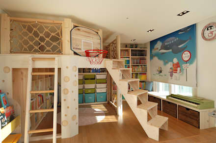 modern Nursery/kid's room by (주)더블유디자인