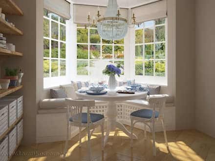 French country interior design: country Dining room by Tamriko Interior Design Studio