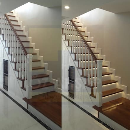 Escaleras de estilo  por ÖZ AHŞAP MERDİVEN