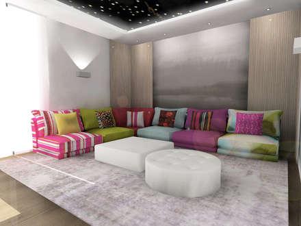 Zona de estar : Salas multimedia de estilo moderno de CARMAN INTERIORISMO