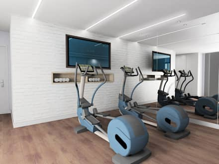 modern Gym by CARMAN INTERIORISMO