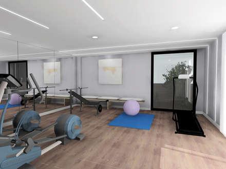 Diseño de gimnasio: Gimnasios domésticos de estilo moderno de CARMAN INTERIORISMO