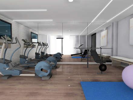 Diseño de techo gimnasio: Gimnasios domésticos de estilo moderno de CARMAN INTERIORISMO