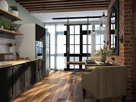 industrial Kitchen by Alyona Musina