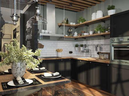 Визуализации проекта в стиле Лофт: Кухни в . Автор – Alyona Musina