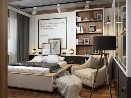 industrial Bedroom by Alyona Musina