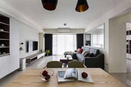 L-HOUSE:  餐廳 by 裏築空間設計 Lizhu Design