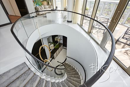 Designer Marble Staircase :  Stairs by Bisca Staircases
