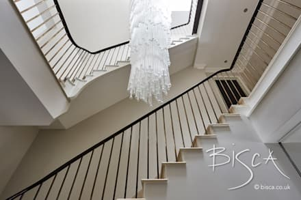 Designer Staircase with A Bronze Balustrade :  Stairs by Bisca Staircases