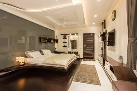 Arcmen Interior Decor Bedroom Interior: Modern Bedroom By Arcmen Kitchens  And Interiors