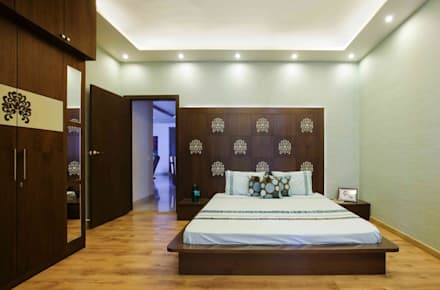 3BHK_ Mr.Narayana Rao_ Parrys Interior Decoration_ Site Photos: Modern  Bedroom By Arcmen Kitchens