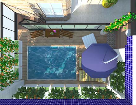 Piscinas de jardín de estilo  por Amaria Gonçalves - Design Paisagismo