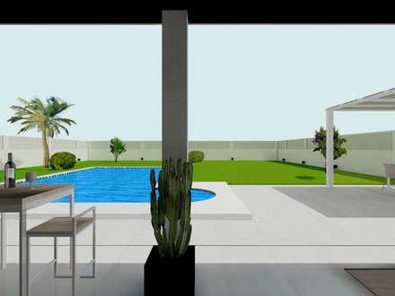 Diseño de exteriores y terraza: Terrazas de estilo  de CARMAN INTERIORISMO