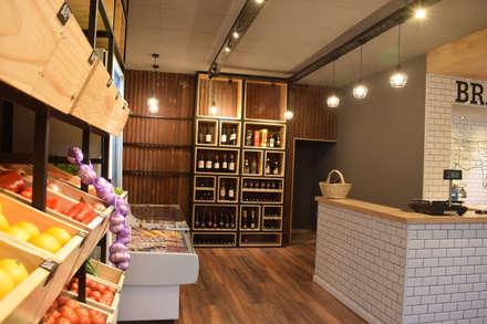 BRANGUS - Mercado: Baños de estilo industrial por Da!  Diseño de  Interiores