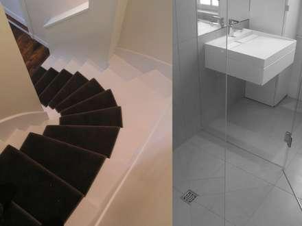 Villa S: Escalier de style  par dominique pottier