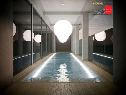 Appartamento privato con piscina: Piscina in stile in stile Classico di MELLINACORTISTUDIO