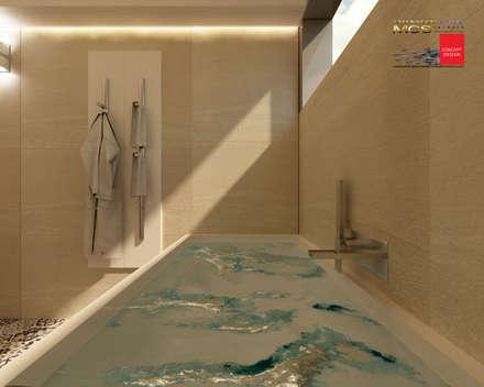 Appartamento privato 3: Bagno in stile in stile Moderno di MELLINACORTISTUDIO