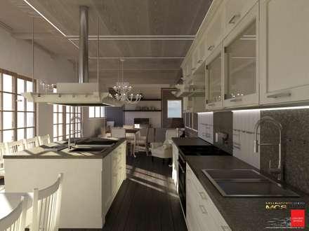 Villa privata: Cucina in stile in stile Coloniale di MELLINACORTISTUDIO