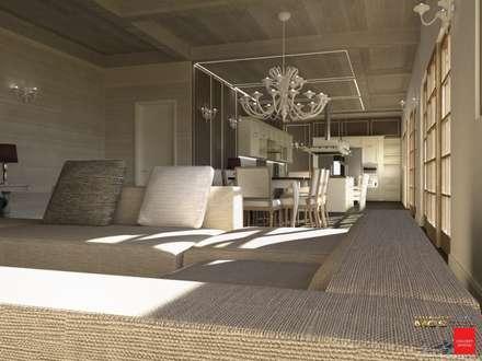 Villa privata: Soggiorno in stile in stile Coloniale di MELLINACORTISTUDIO
