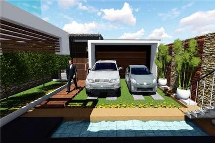 PROYECTO DE VIVIENDA UNIFAMILIAR CASA VERDE: Casas unifamiliares de estilo  por Architech Tacna Arquitectos e Ingenieros