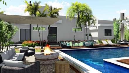 Zen garden by Trivisio Consultoria e Projetos em 3D