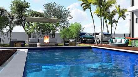 Piscinas de jardín de estilo  de Trivisio Consultoria e Projetos em 3D