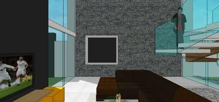 Sala: Salas / recibidores de estilo minimalista por MARATEA Estudio